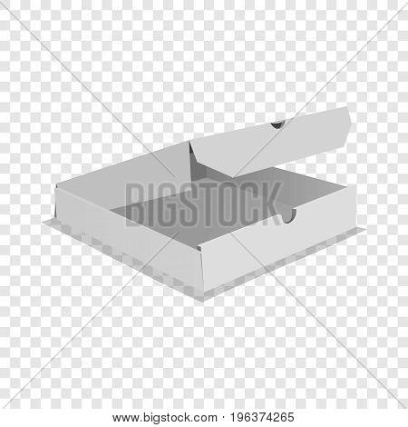 One pizza box icon. Realistic illustration of one pizza box vector icon for web