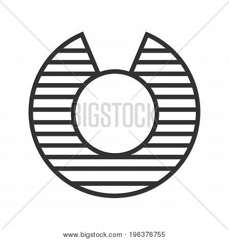 Vulnerability linear icon. Thin line illustration. Abstract metaphor contour symbol. Vector isolated outline drawing