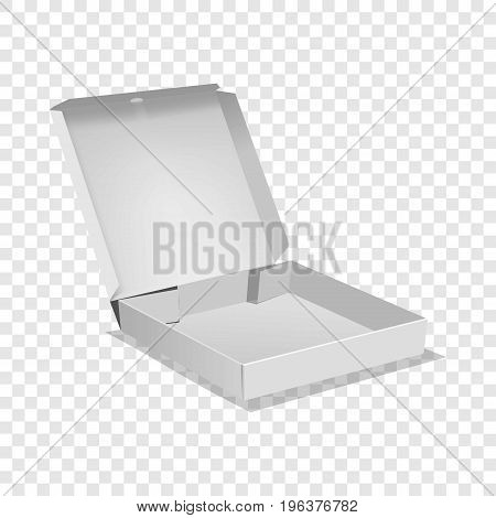 Opened box icon. Realistic illustration of opened box vector icon for web