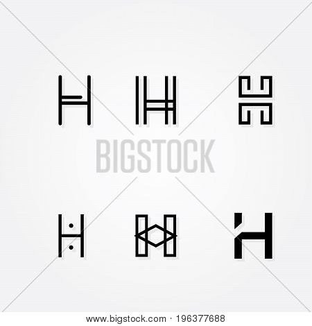 Various Letter H big logo typo pack for your company poster