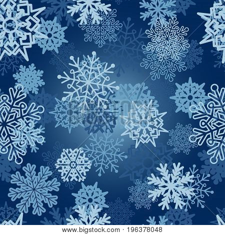 Abstract Seamless Pattern For Girls,boys.creative Vector Background With Snowflakes, Winter.funny Wa