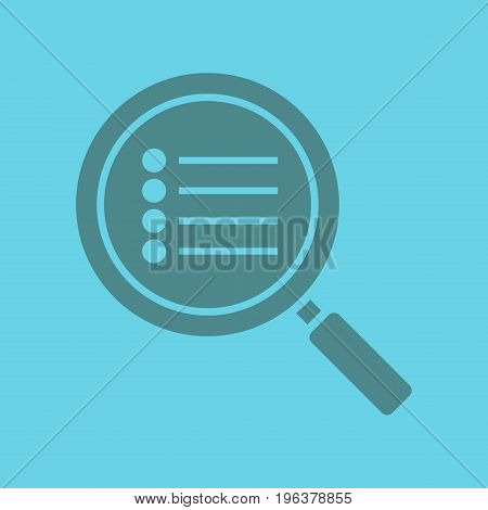 Search options glyph color icon. Silhouette symbol. Magnifying glass with preferences. Negative space. Vector isolated illustration