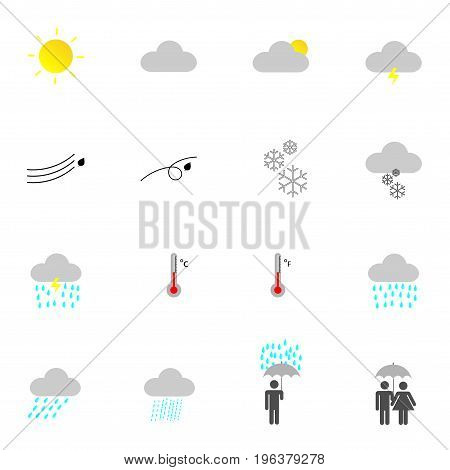 flat weather icon set for vector design on website and application