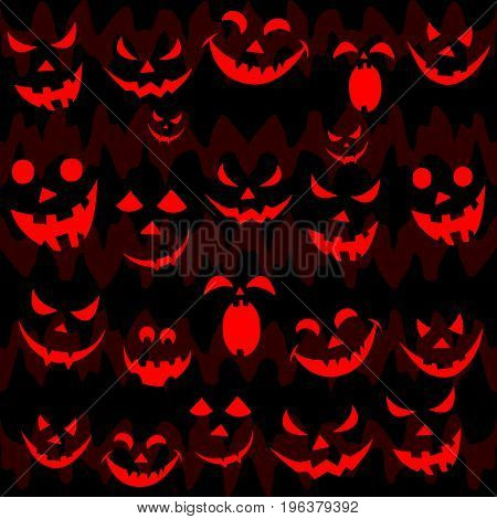 Abstract Seamless Pattern For Girls,boys, Children, Clothes. Creative Vector Background With Scary F