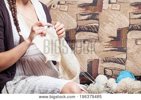 Brunette Woman  Knits