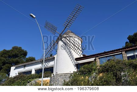 White Windmill don Quijote of the spot Spain