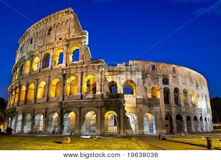 Rome - Colosseum At Dusk