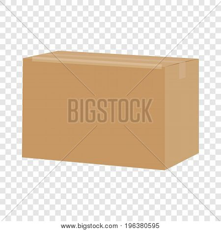 Carton box container mockup. Realistic illustration of carton box container vector mockup for web