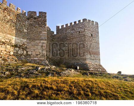 Back Of Ayasoluk Castle In Selcuk Near Ephesus In Turkey