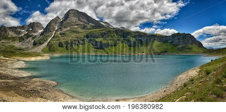 Mountain Glacial Lake In A Great Landscape