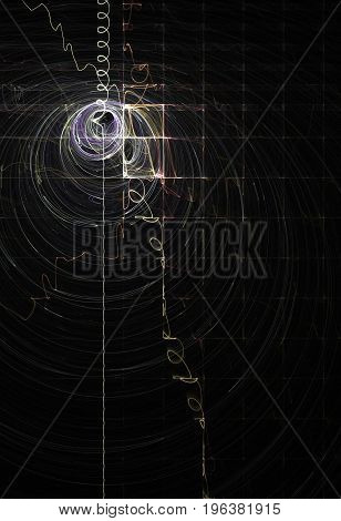 Light wave radar signal line abstract vertical background