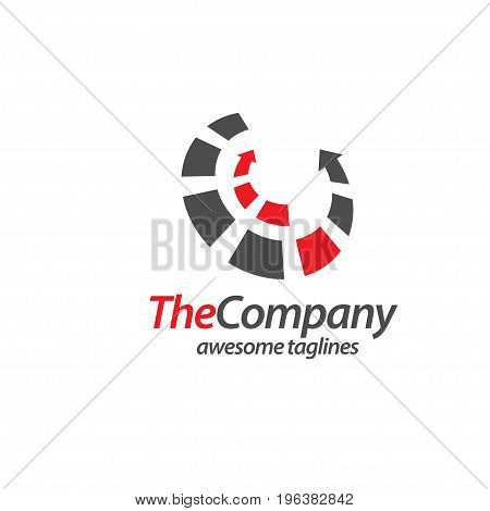 circle with arrow modern Vector in perspective view logo design