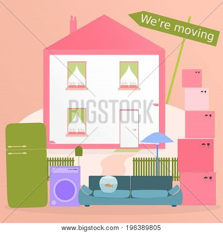 Relocation. We're moving with house and furniture in trendy colors.