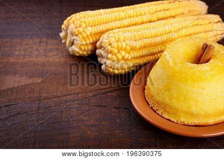 Brazilian Sweet Dessert Corn Cake