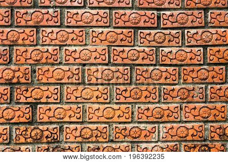 beautiful old hardened clay wall abstract background