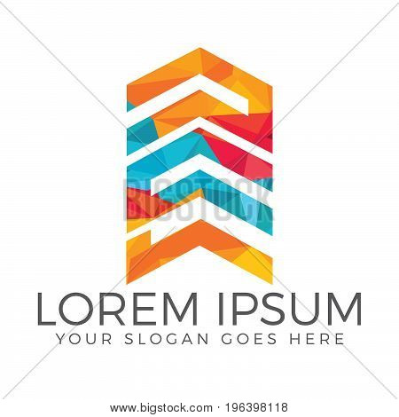 Abstract vector logo of buildings. Skyscrapers logo. Real estate logo concept illustration.