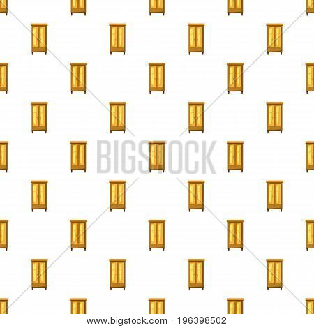 Wardrobe for clothes pattern seamless repeat in cartoon style vector illustration