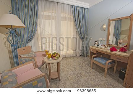 Interior Design Of A Luxury Hotel Bedroom