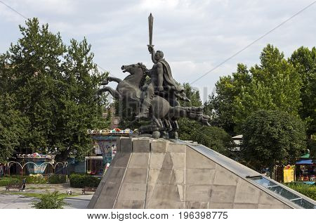 YEREVAN,ARMENIA- JULY 15,2017:Monument to General Andranik Ozanyan - armenian commander and statesman in Yerevan one of the oldest cities in the world.