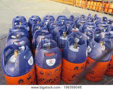 New Style Lightweight Butane Gas Bottles At Depot