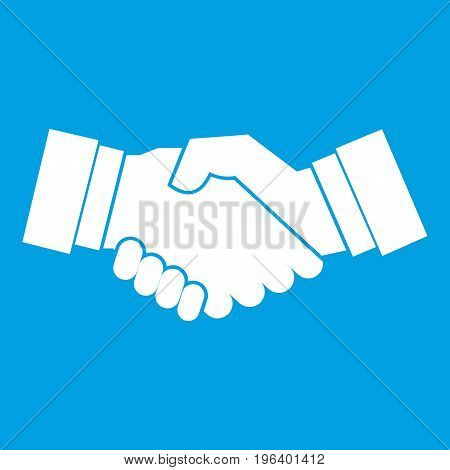 Handshake in simple style isolated on white background vector illustration