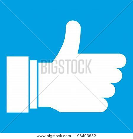 Thumb up sign in simple style isolated on white background vector illustration