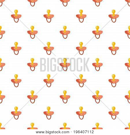 Baby nipple pattern seamless repeat in cartoon style vector illustration