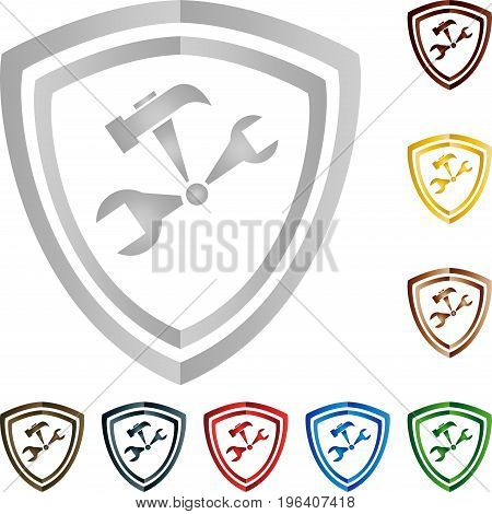 Tools Coat of arms, tools and mechanics logo