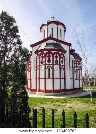 Old xistoric Orthodox church in Bela Palanka, Serbia. Religion concept.