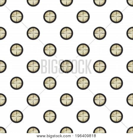 Target pattern seamless repeat in cartoon style vector illustration