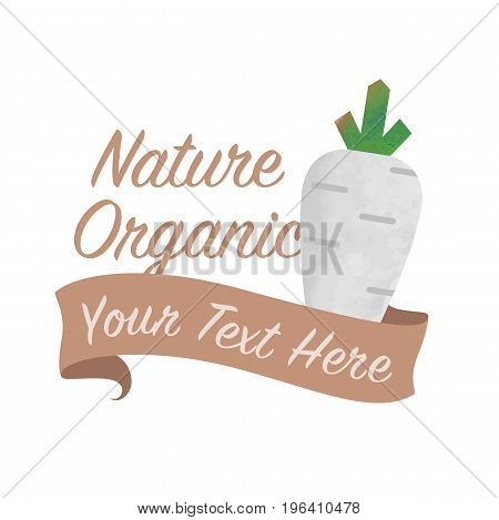 Colorful Watercolor Texture Vector Nature Organic Vegetable Banner White Radish