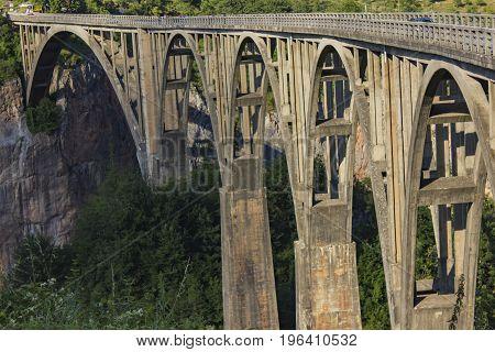 Bridge On The River Tara In Montenegro