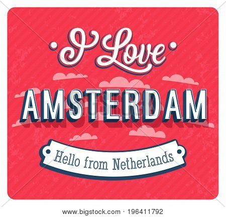 Vintage Greeting Card From Amsterdam - Netherlands.