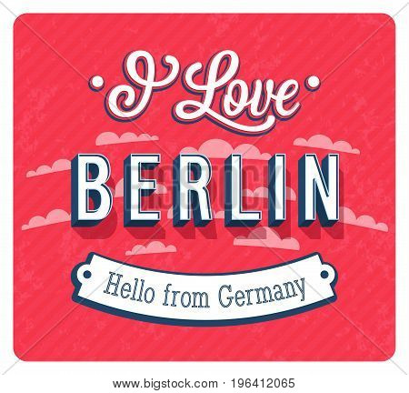 Vintage Greeting Card From Berlin - Germany.