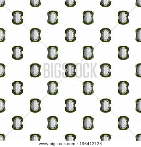 Knee pad pattern seamless repeat in cartoon style vector illustration