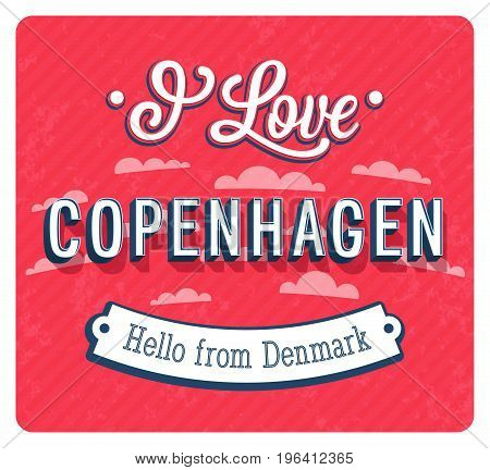 Vintage Greeting Card From Copenhagen - Denmark.