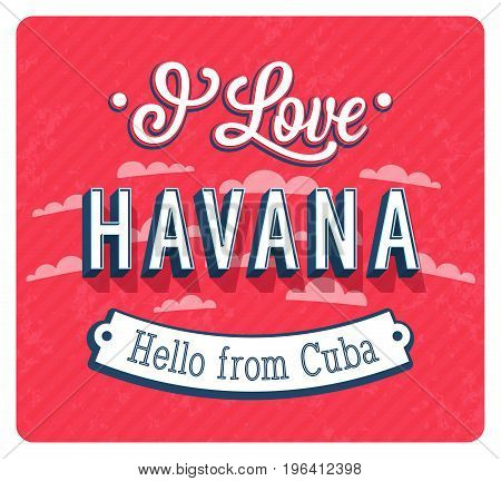 Vintage Greeting Card From Havana - Cuba.