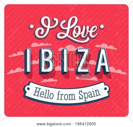 Vintage Greeting Card From Ibiza - Spain.