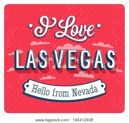 Vintage Greeting Card From Las Vegas - Nevada.