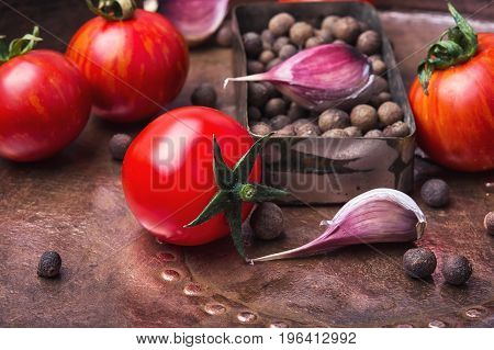 Pickled Tomatoes In Autumn