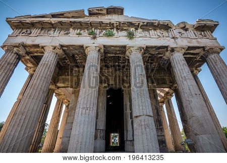 Ruins Of The Temple Of Hephaestus Near The Ancient Agora (forum) Of Athens