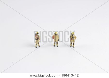 The Fire Man Toy.figure At The Board