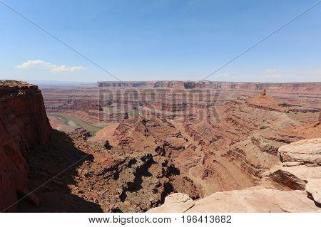 White Rim in Canyonlands National Park. Utah. USA