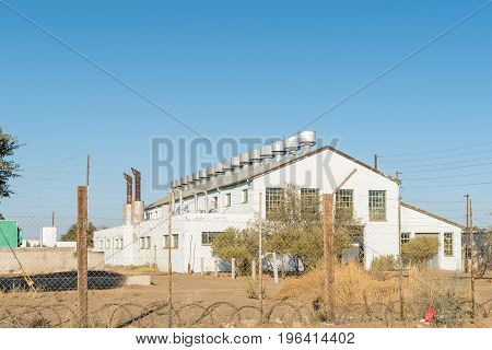 KEETMANSHOOP NAMIBIA - JUNE 13 2017: The historic old power station in Keetmanshoop the capital town of the Karas Region of Namibia