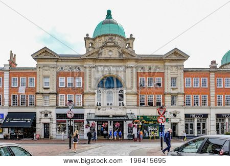 Tunbridge Wells Kent UK - June 27 2017: Opera House street scene taken in summer.