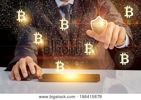 Businessman Puts Protection Bitkon In The Network.