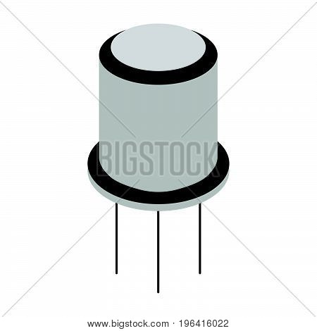 Transistor cartoon icon and sign. Vector illustration.