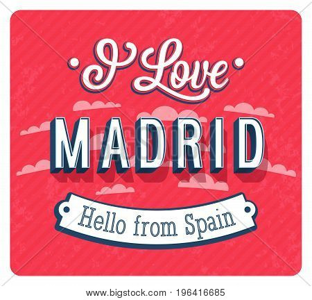 Vintage Greeting Card From Madrid - Spain.