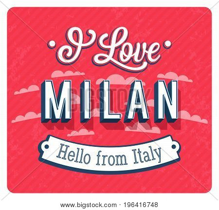 Vintage Greeting Card From Milan - Italy.