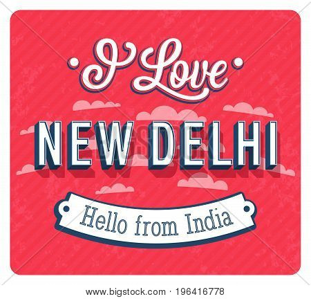 Vintage Greeting Card From New Delhi - India.